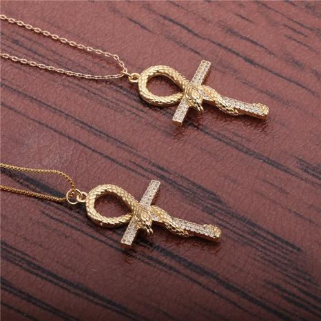collar de serpiente cruzada NHYL298570's discount tags