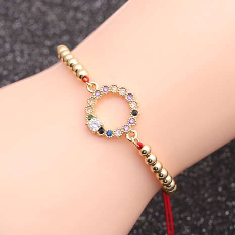 hot selling micro-inlaid zircon ring Devil's eye bracelet NHYL298576's discount tags