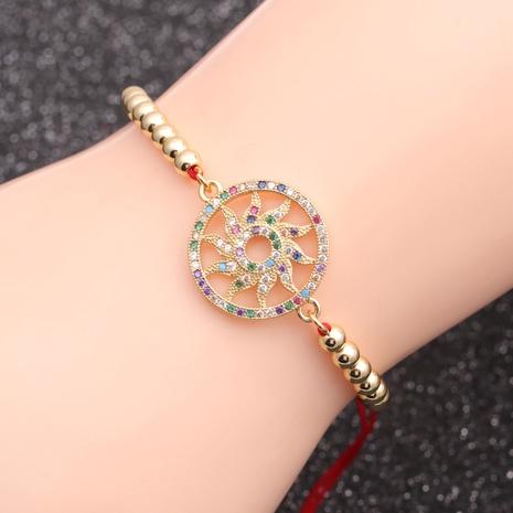micro-inlaid zircon sun wheel chain bracelet NHYL298579's discount tags