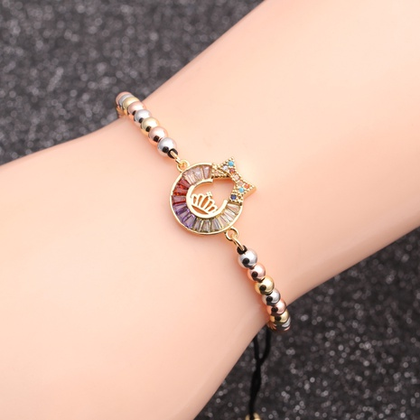 micro-inlaid zircon crown chain bracelet NHYL298592's discount tags