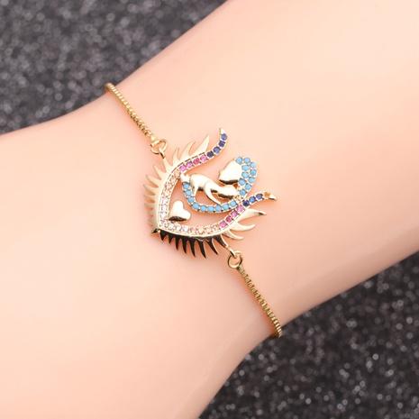 mikro-eingelegte Zirkon Liebe Mutter Kind Damen Armband NHYL298593's discount tags