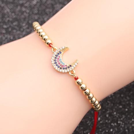 micro-inlaid zircon moon chain bracelet NHYL298594's discount tags
