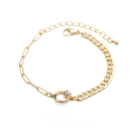 punk color zirconium heart bracelet  NHYL298608's discount tags