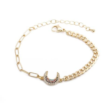 punk hip-hop color zirconium moon bracelet  NHYL298611's discount tags