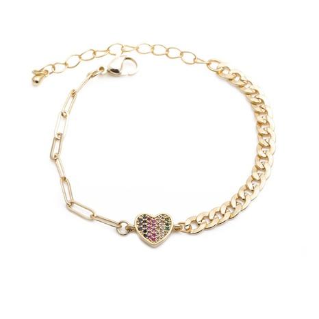 color zirconium love bracelet  NHYL298615's discount tags