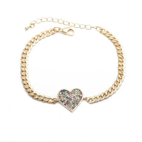 color zirconium heart bracelet  NHYL298616's discount tags