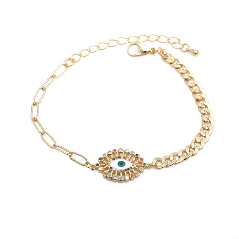 Color Zirconium Demon Eye Bracelet NHYL298617's discount tags
