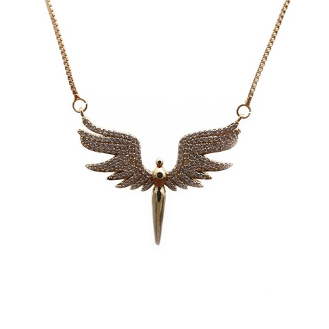 zircon angel wings necklace NHYL298621's discount tags