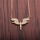 zircon angel wings necklace NHYL298621