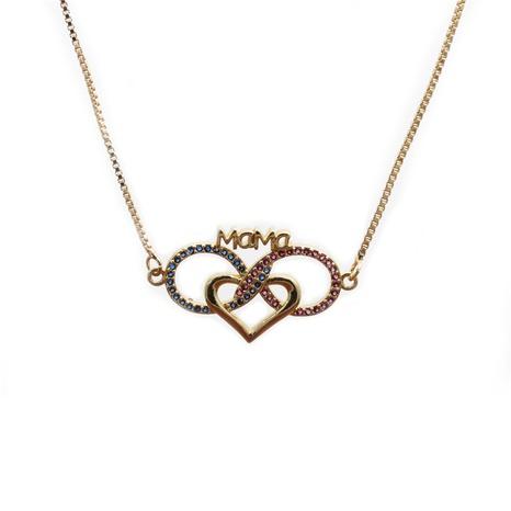 Herzförmiger Anhänger MaMa Halskette NHYL298623's discount tags