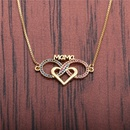 heartshaped pendant MaMa necklace NHYL298623
