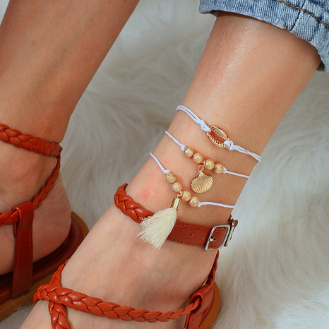 new tassel shell anklet  NHGY298826's discount tags