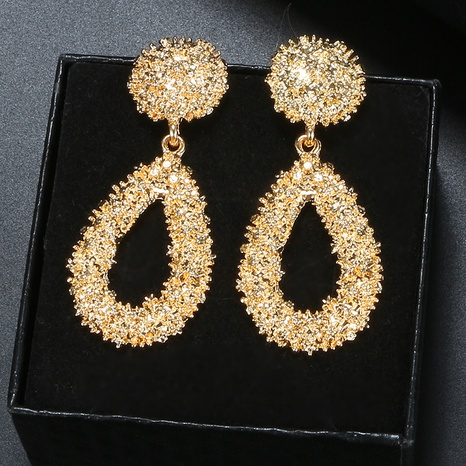 exaggerated simple geometric embossed earrings  NHGY298785's discount tags