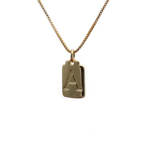 nouveau collier lettre en cuivre NHYL298689's discount tags