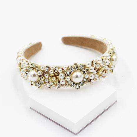 Diadema barroca de diamantes de perlas cosidas a mano de nueva moda NHWJ298709's discount tags