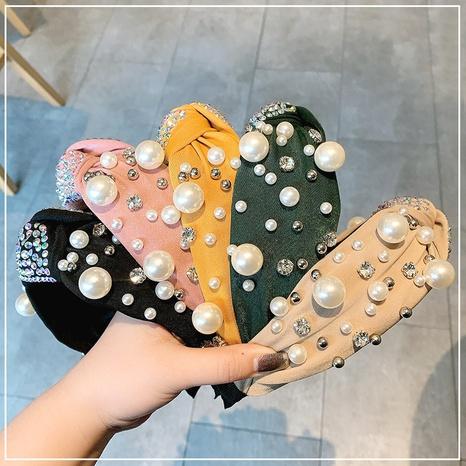 Diadema de perlas retro NHOF298723's discount tags