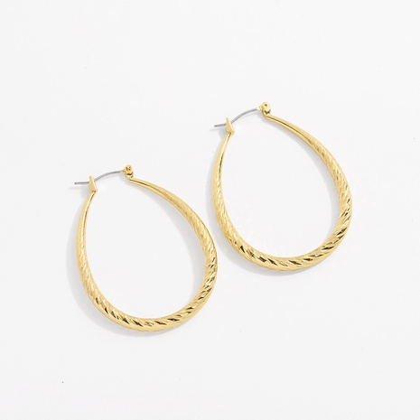 copper oval simple earrings NHJQ298753's discount tags