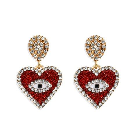Dämon Augen Herz Diamant Ohrringe NHJQ298754's discount tags