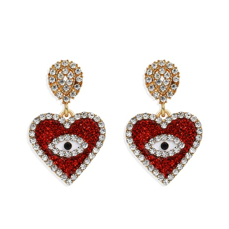 demon eyes heart diamond earrings NHJQ298754's discount tags