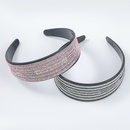 Fashion diamondstudded acrylic horizontal stripe headband NHJE298778