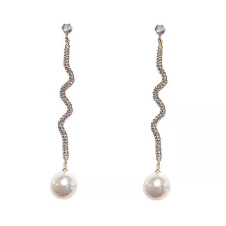 long pearl fashion earrings NHVA298808's discount tags