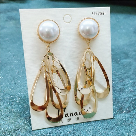 Fashion alloy pearl earrings NHVA298822's discount tags