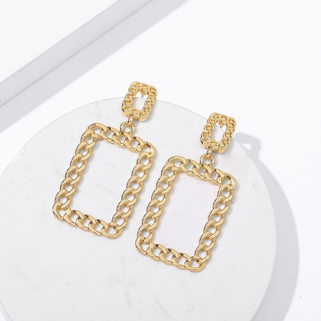 retro square hollow earrings NHLL298878's discount tags