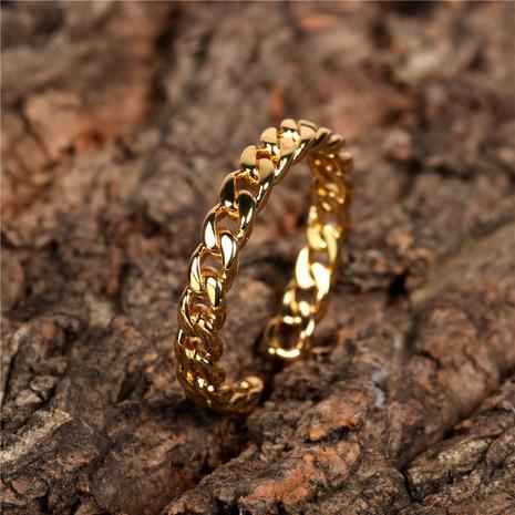 einfacher offener Ring aus glänzendem Metall NHPY298884's discount tags