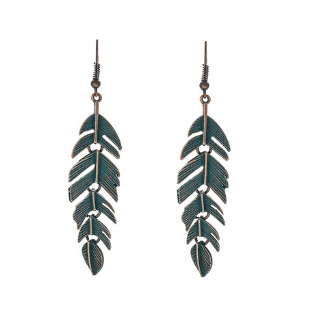 simple retro leaf earrings NHOA298971's discount tags