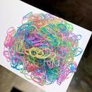 Korean simple colorful hair ring set NHNA298975
