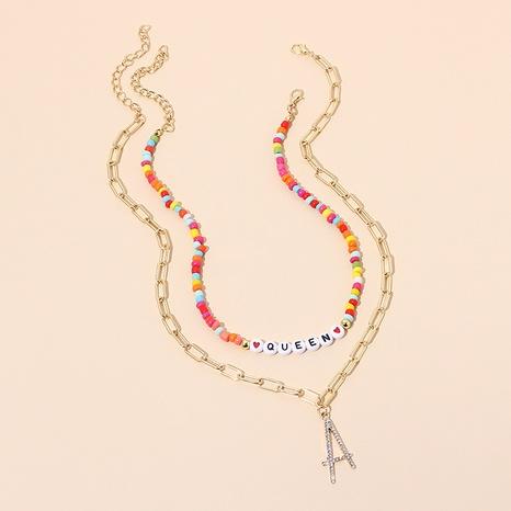 collier à lettres multicouches NHRN299023's discount tags