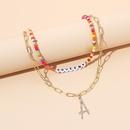 multilayer letter necklace NHRN299023