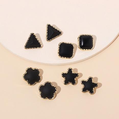 boucles d'oreilles étoile triangle de mode NHRN299026's discount tags