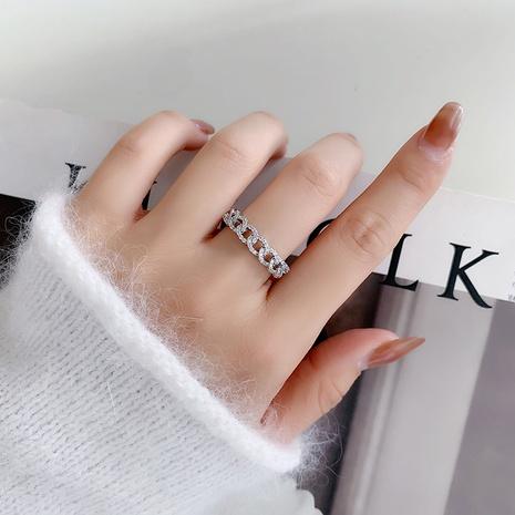 offener Ring aus Zirkon-Twist-Kette NHMS299046's discount tags