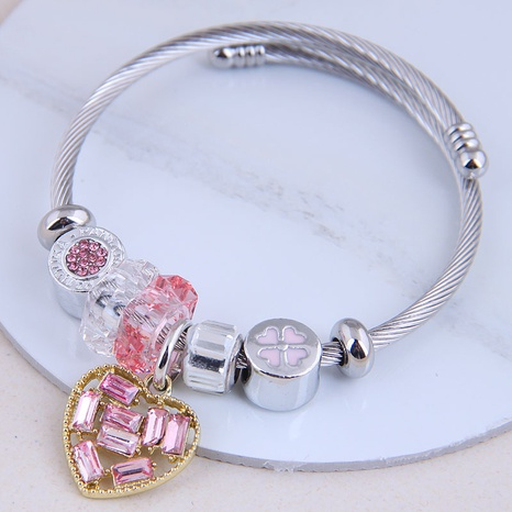 fashion metal wild simple wild bright love pendant  bracelet NHSC299886's discount tags