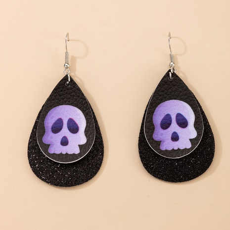 Water Drop Leather Earrings NHGY299884's discount tags