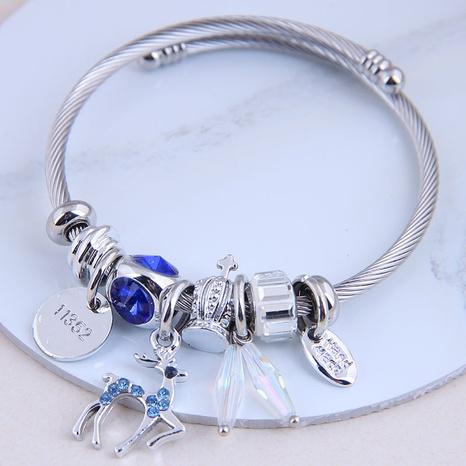 fashion metal wild simple wild flashing diamond deer bracelet NHSC299882's discount tags