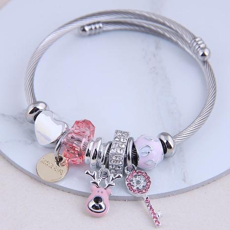 fashion metal wild simple cute bear key bracelet NHSC299142's discount tags