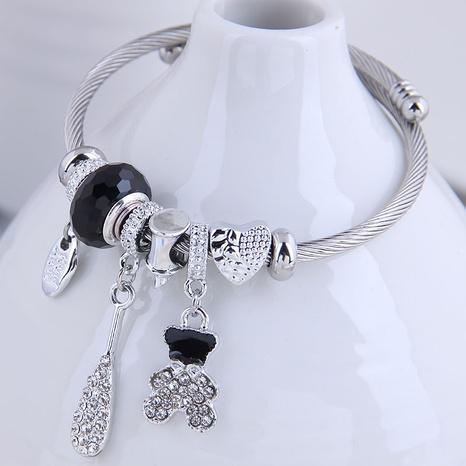 fashion metal wild simple flash diamond cute bear bracelet NHSC299140's discount tags