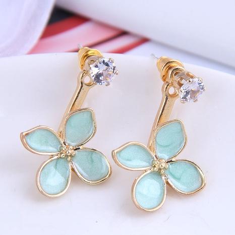 Grüne vierblättrige Ohrringe der koreanischen Mode NHSC299797's discount tags