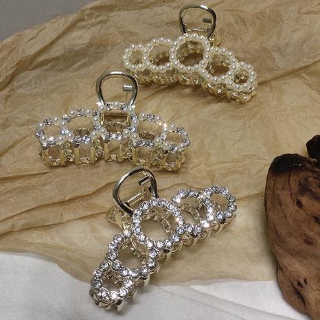 metal pearl rhinestone catch clip NHAR299120's discount tags