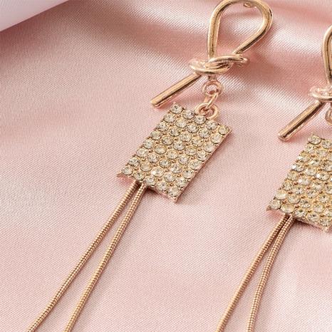 Aretes con borlas cuadradas de diamantes NHOT299789's discount tags