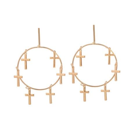 alloy cross circle earrings NHOA298963's discount tags
