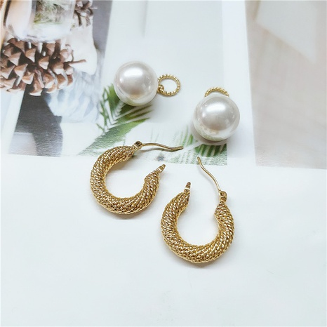 retro pearl earrings  NHVA298914's discount tags