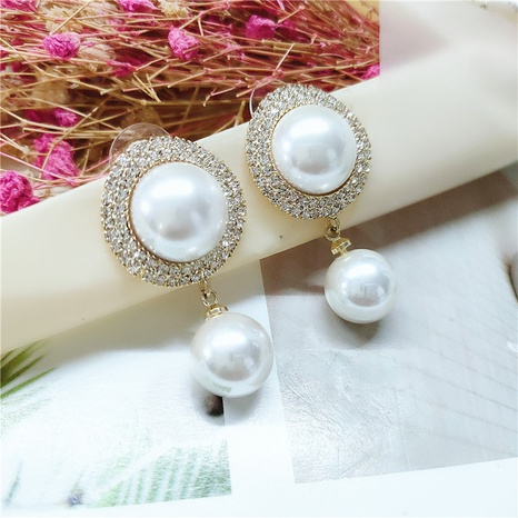 fashion round pearl earrings  NHVA298906's discount tags