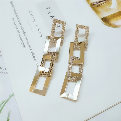 simple diamond-studded golden earrings NHVA298901's discount tags