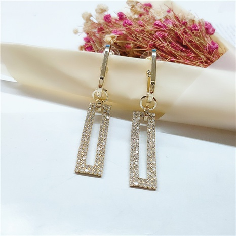 long geometric pendant fashion earrings NHVA298907's discount tags