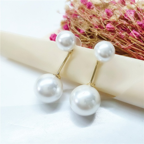 retro fashion pearl earrings NHVA298915's discount tags