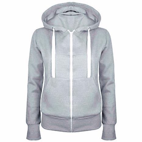 nuevo abrigo con capucha y cremallera de manga larga más suéter de terciopelo NHIS299185's discount tags