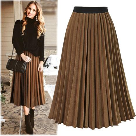 Falda plisada Falda plisada de gasa Falda NHUO299180's discount tags